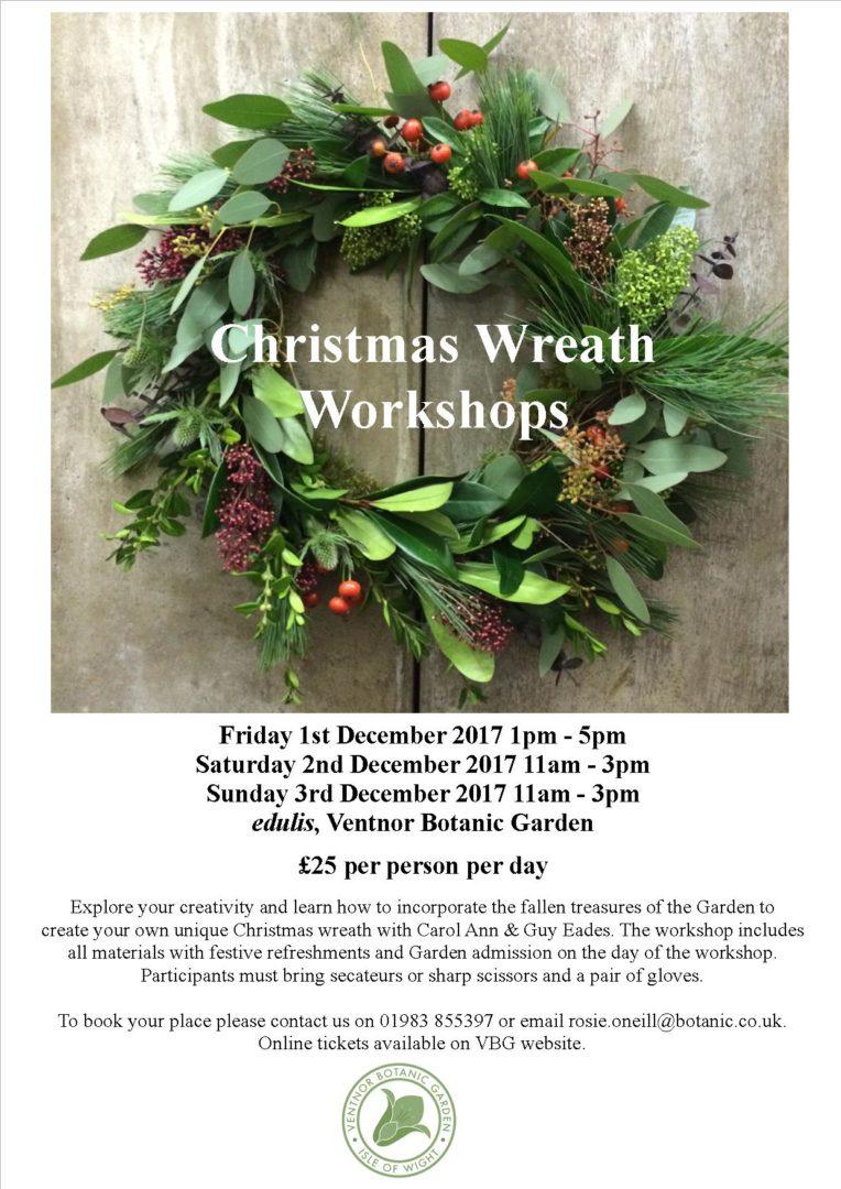 Christmas Wreath Making Workshop Ventnor Botanic Garden